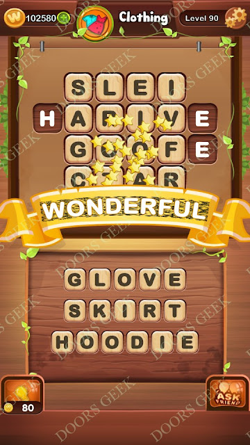 Word Bright Level 90 Answers, Cheats, Solutions, Walkthrough for android, iphone, ipad and ipod