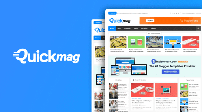 Blogger Tema-Quick Mag