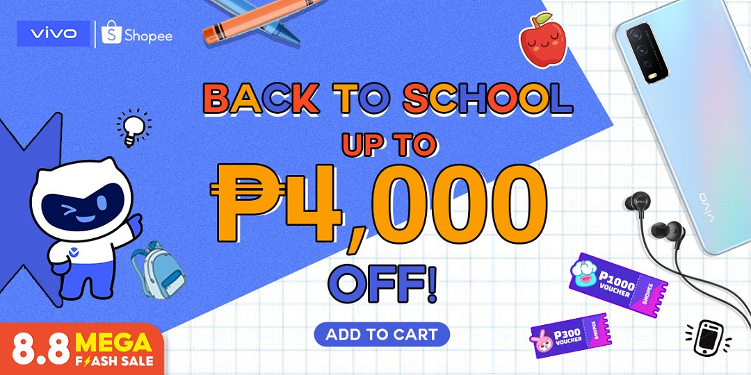 vivo smartphones to have Back-To-School discounts on Shopee 8.8 Sale