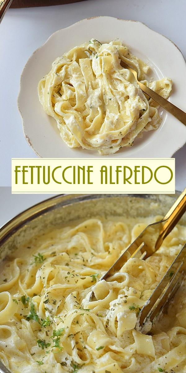 Fettuccine Alfredo (Olive Garden Copycat) #pastarecipes