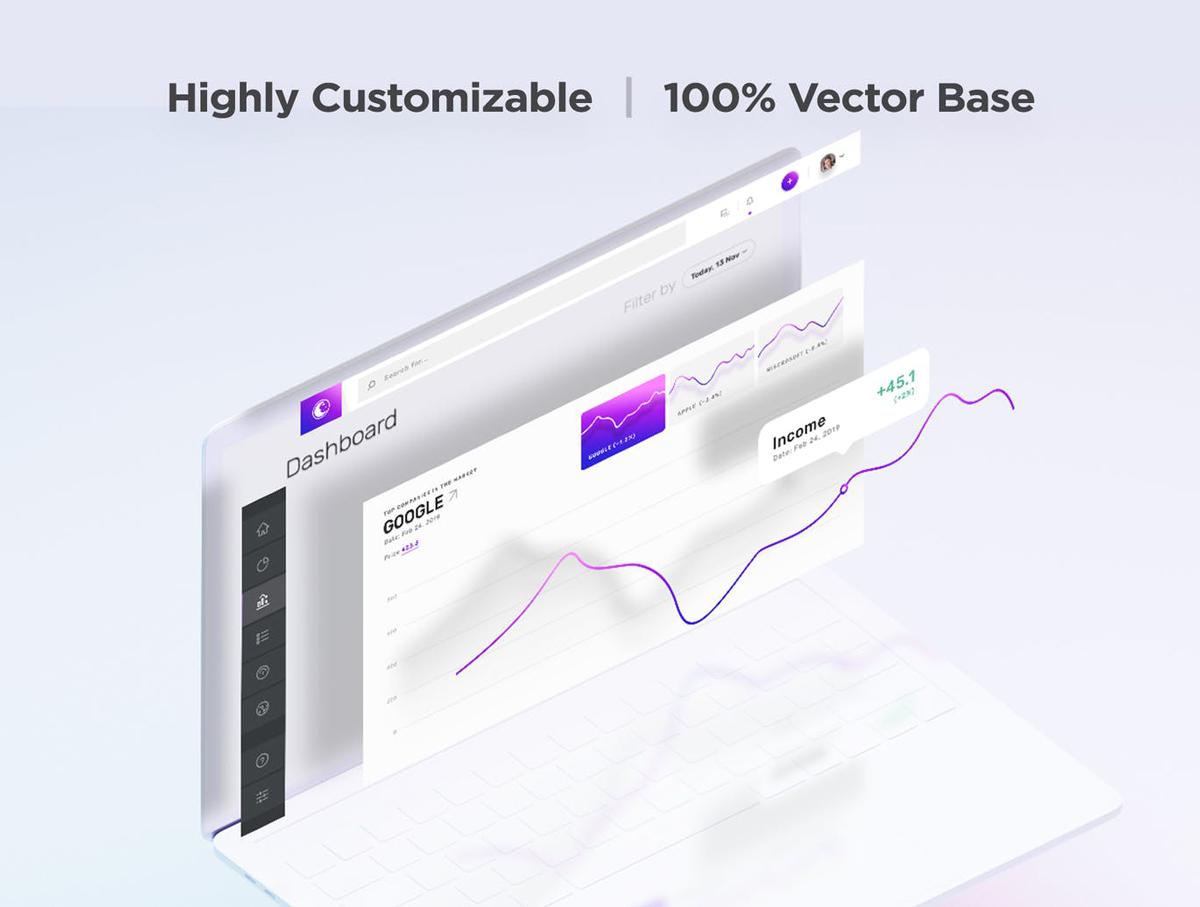 Vesper Dashboard Web App UI Ki