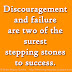 Discouragement and failure are two of the surest stepping stones to success.