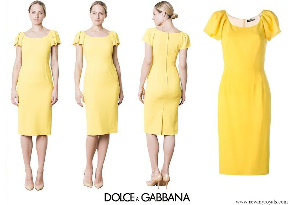 Kate Middleton wore Dolce and Gabbana Cady Pencil Midi Dress