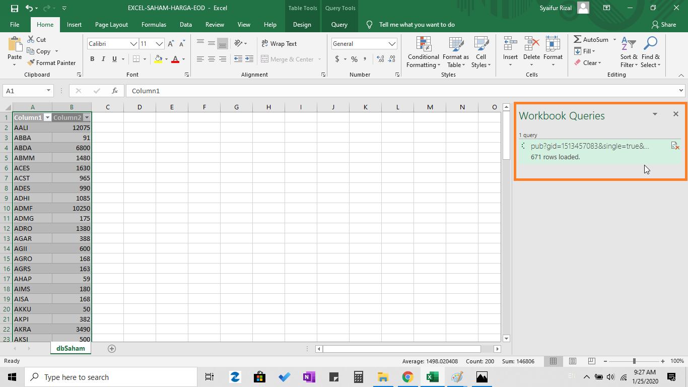 Import Harga Saham Di Excel Dengan Sekali Klik