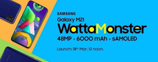 Samsung Galaxy M21 launch on 18 March on Amazon-info movtive