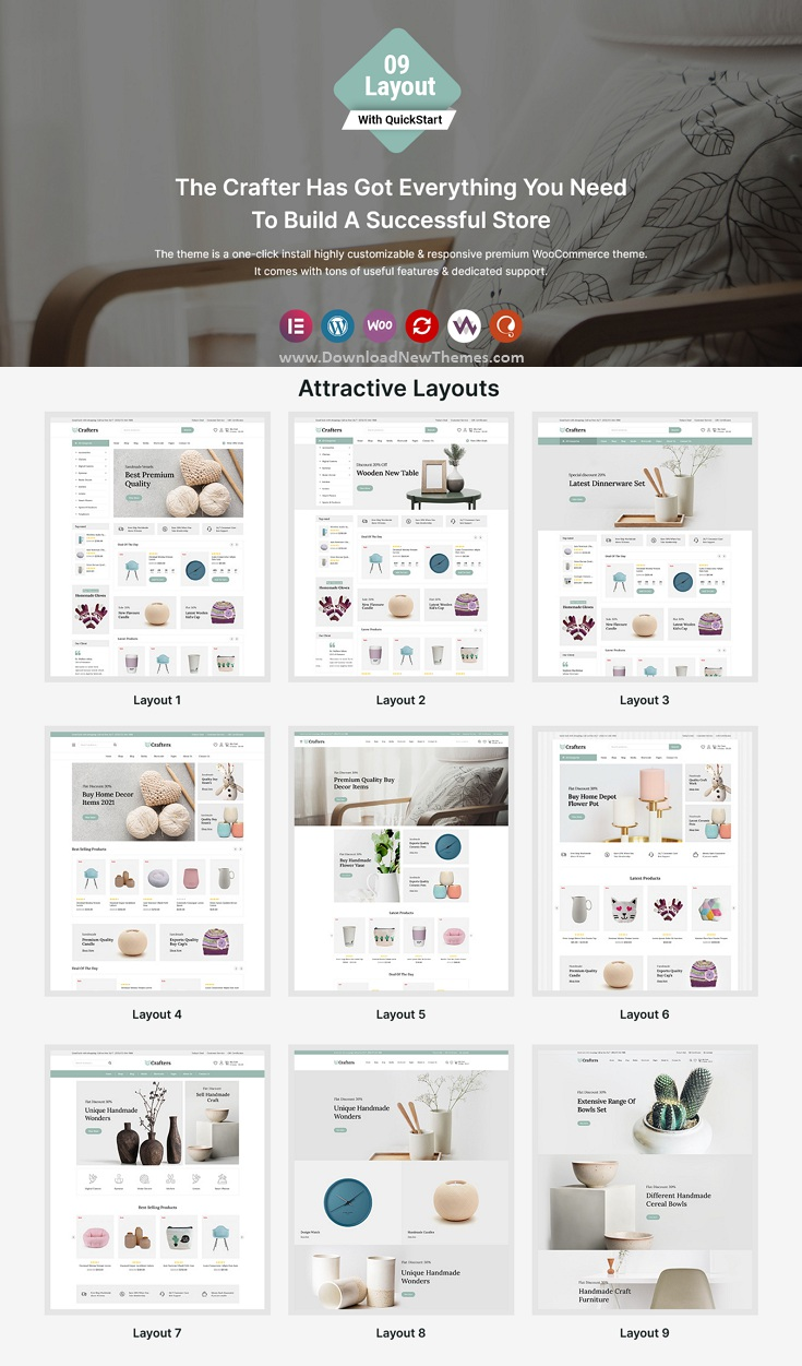 Crafters - Art and Decor WooCommerce Theme