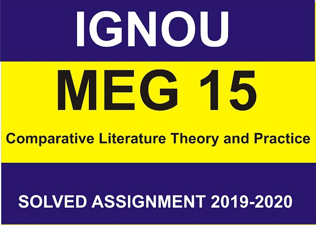 MEG 15 Solved Assignment 2020-21
