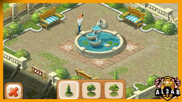 تحميل لعبة Gardenscapes للاندرويد بحجم صغير من الميديا فاير