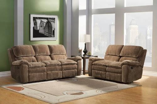 3pc traditional modern fabric recliner sofa sets