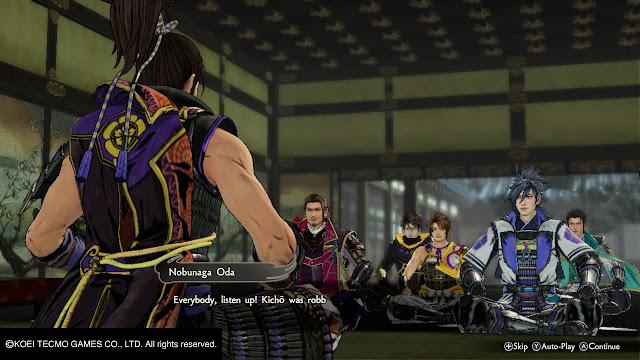 Oda Nobunaga Mitsuhide Akechi Hisahide Matsunaga Hideyoshi Hashiba Kazuuji Nakamura Toshimitsu Saito Reunión Samurai Warrior 5 Nitendo Switch
