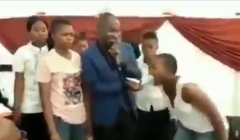 Moment a pastor tears up part of the Bible & feeds it to his Church members