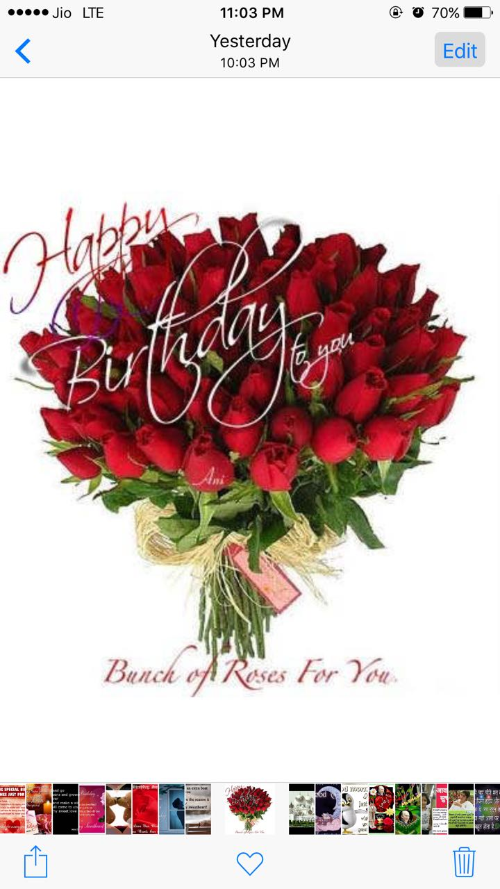 Images For Whatsapp Birthday Wishes With Bookey Of Roses