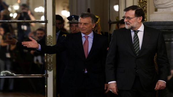 Mauricio Macri se reúne con Rajoy en la Casa Rosada