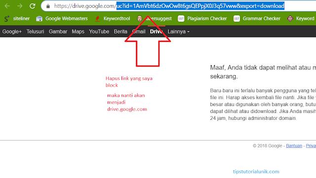 cara mengatasi link google drive error