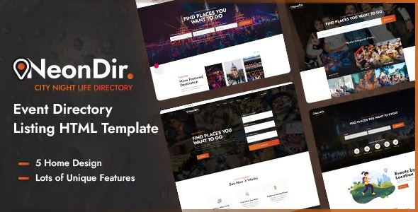 Best Event Directory Listing HTML Template