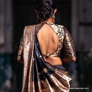 silk saree blouse designs catalogue