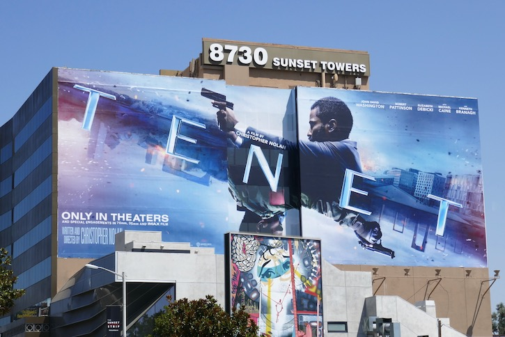 Giant Tenet movie billboard