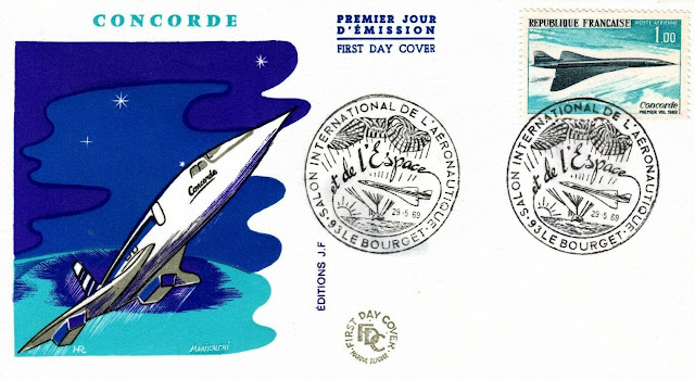 France Concorde FDC March 2,1969