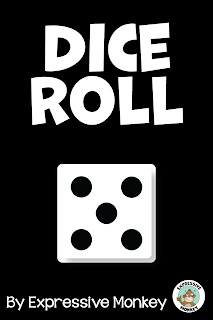 Roll the dice right here!  Play the video to roll the dice, pause the video to see what you've rolled!  Great for Expressive Monkey's Roll & Draw drawing games and other Roll-A-Draw games!