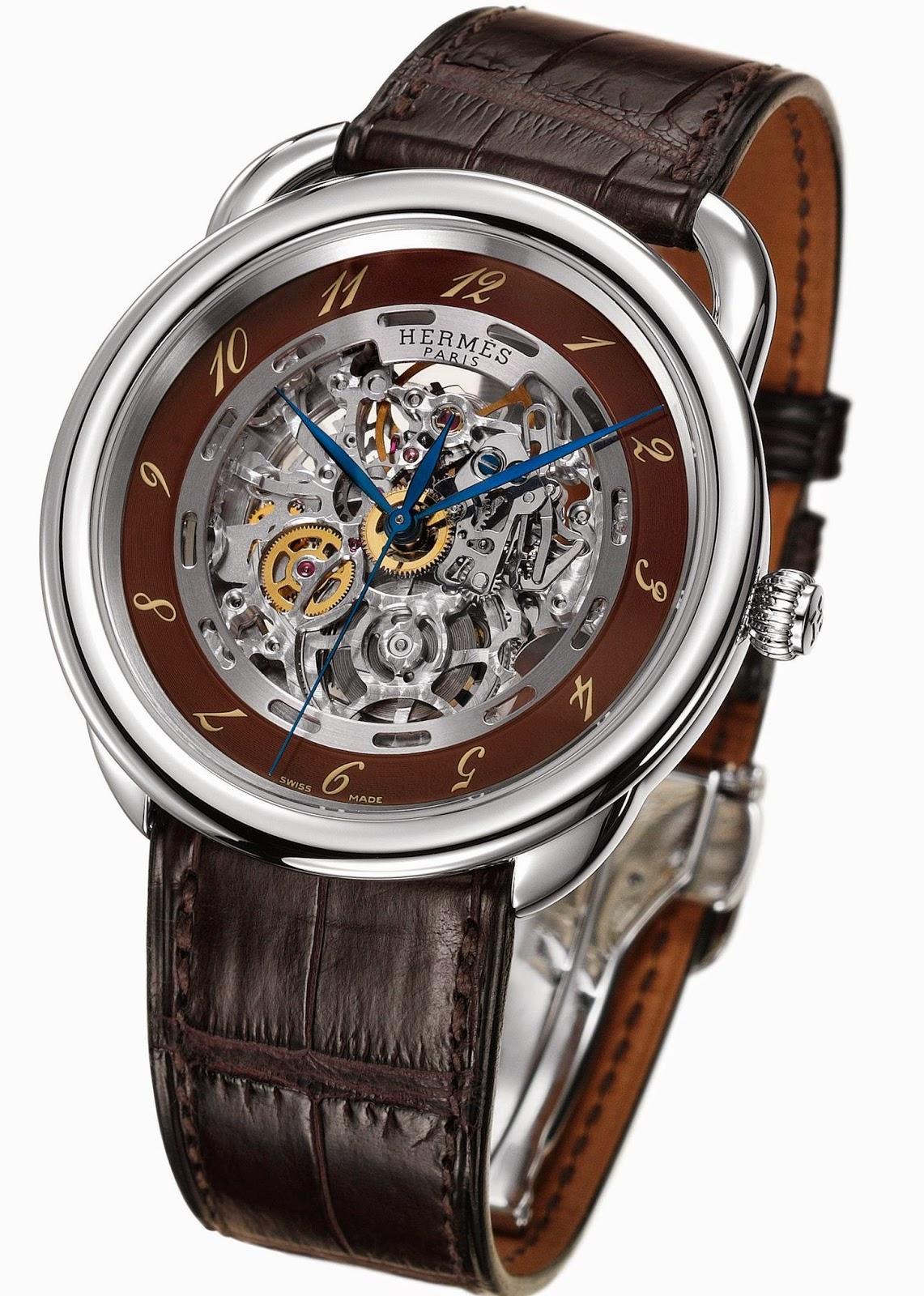 Hermès Arceau mechanical Skeleton watch stainless steel version
