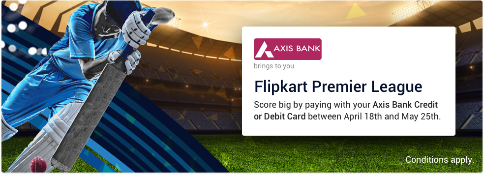 Flipkart Premier League Contest Shop Via Axis Bank Credit