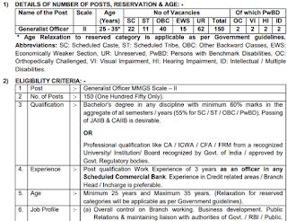 Bank of Maharashtra Generalist officer Vacancy 2021