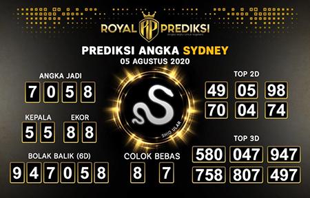 Royal Prediksi Sidney Rabu 05 Agustus 2020