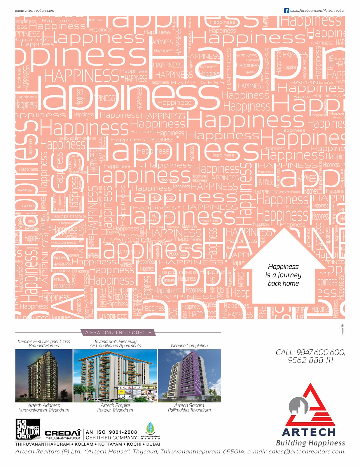 Ads for Artech Builders, Agency: HAMMER    Abhithilak