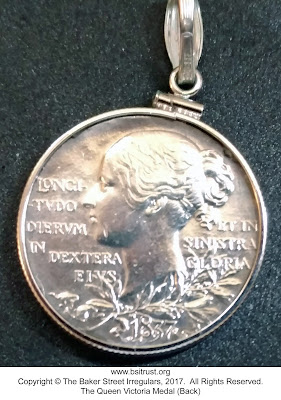 The BSI Queen Victoria Medal (back)