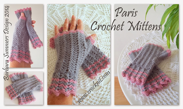 how to crochet, crochet patterns, fingerless mittens, gloves, mitts,
