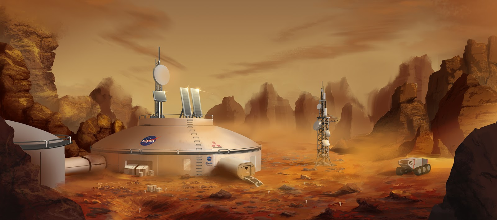 NASA Mars base concept by Alexey Rubakin