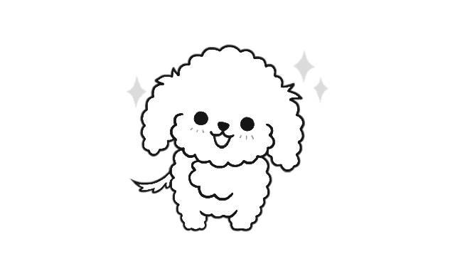 perritos dibujos de perros caniches faciles