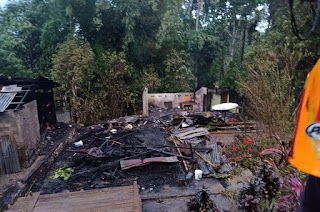 Satu Rumah di Kesu' Habis Dilahap Si Jago Merah