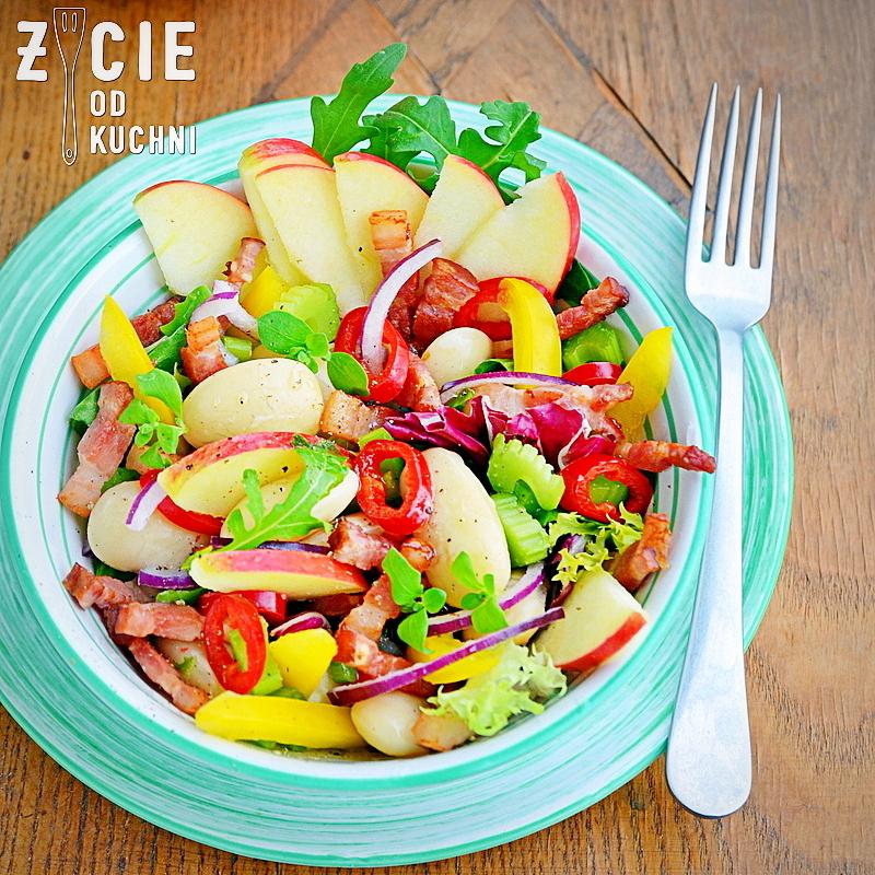 salatka z fasoli, przepisy z fasoli, przepisy z fasola, piekny jas, zycie od kuchni, salatka
