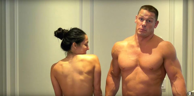 WWE star Nikki Bella strips to celebrate 500,000 YouTube subscribers with John Cena4