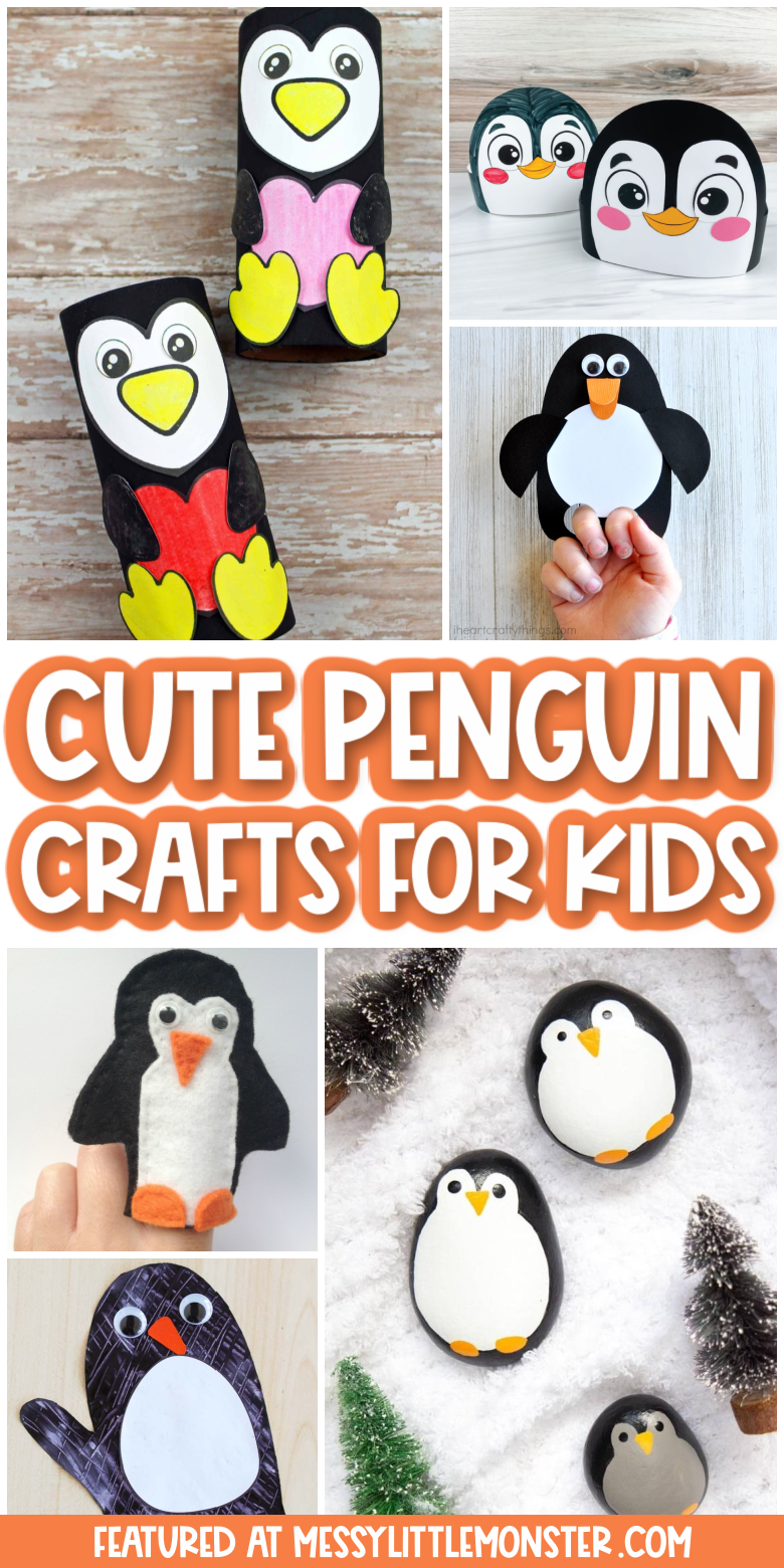 Cute and easy penguin crafts for kids