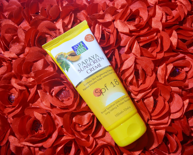 Astaberry Papaya Sunscreen Crème SPF 18 - Review image