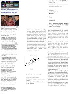 Hikmah 313 Surat Terbuka kepada Said Aqil Siradj Ketua PBNU