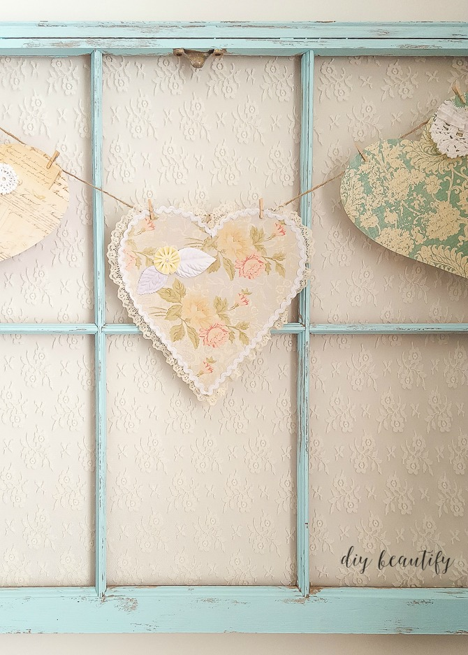 add lace to antique window