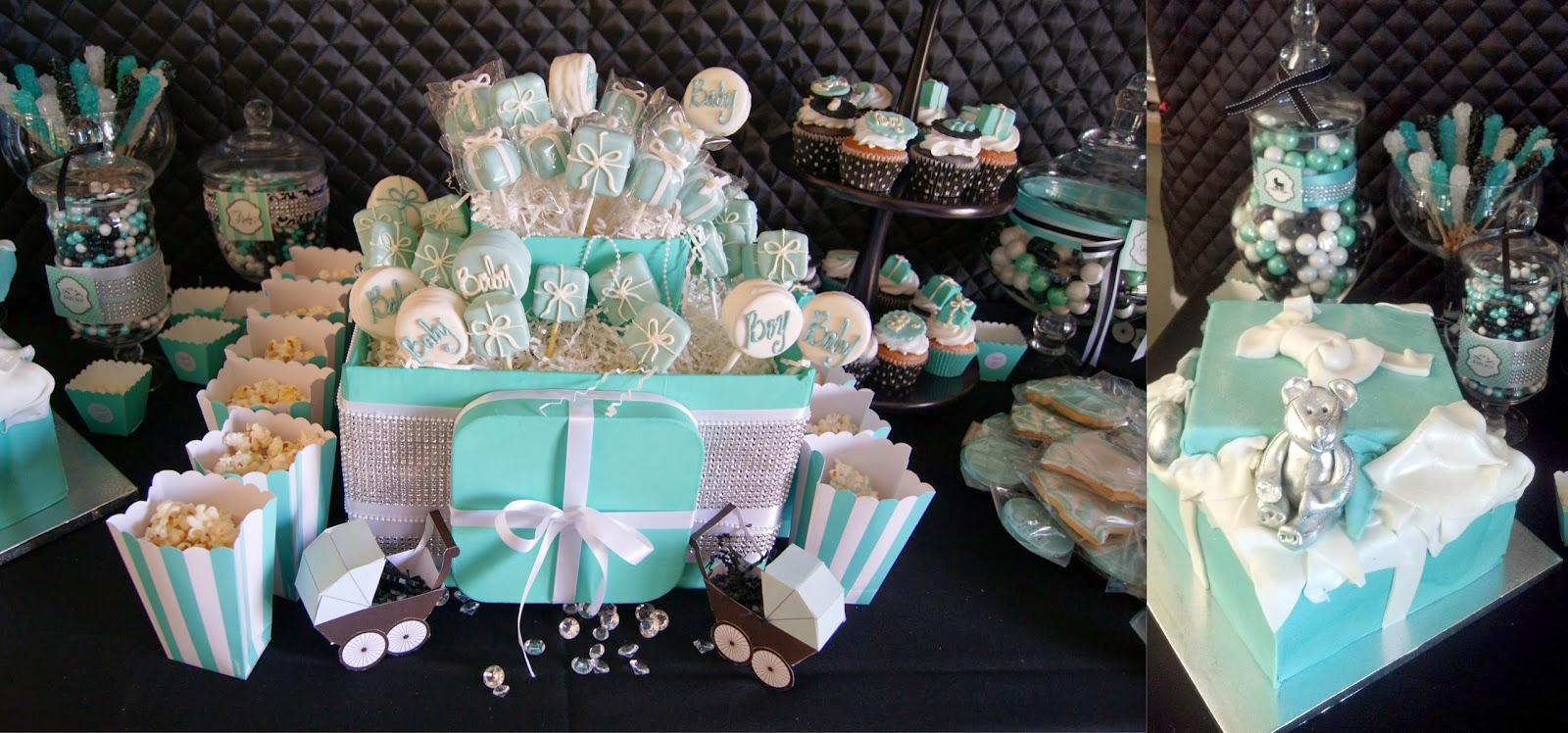 breakfast at tiffany's theme party, allthingsslim, baby shower, party inspiration,