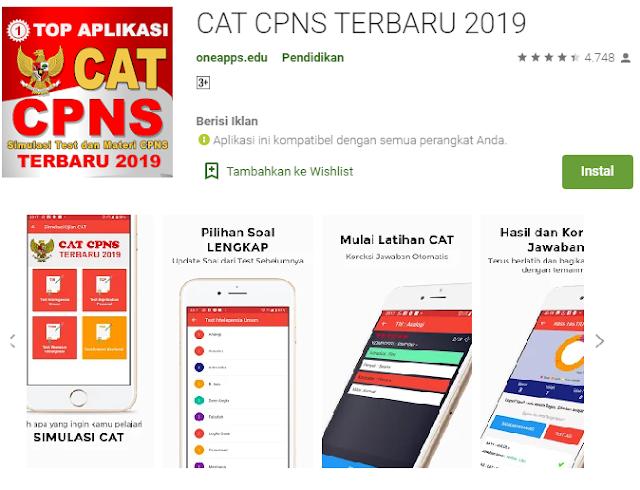 cat cpns 2019