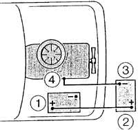 Подключение дополнительного аккумулятора для запуска двигателя