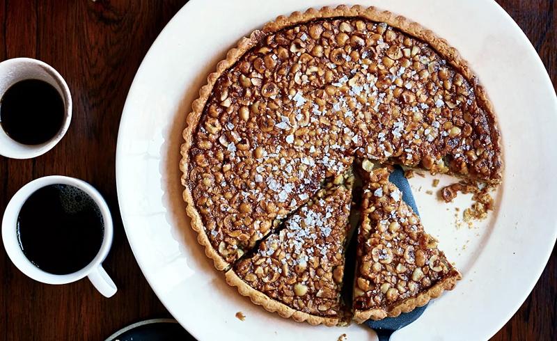 Hazelnut-Rosemary Caramel Tart