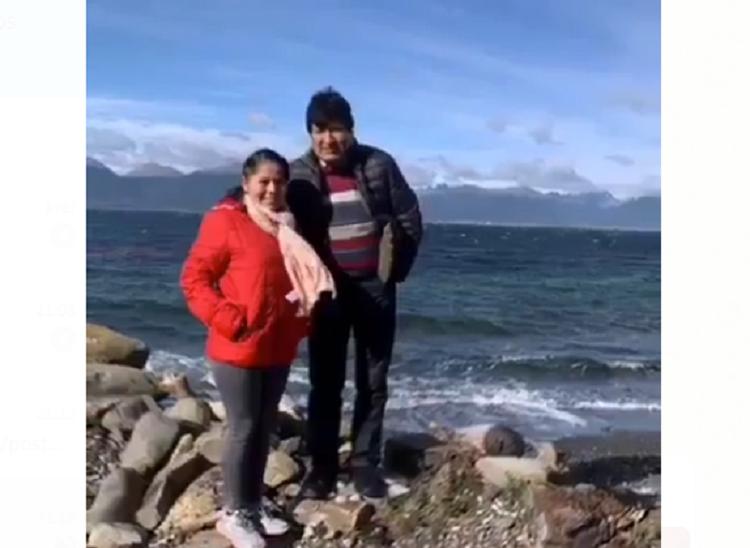 La joven envió un video a Morales con una selección de fotos mutuas / RRSS