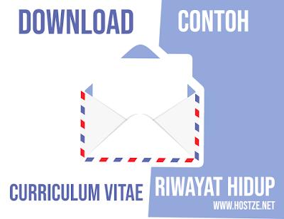 Download Contoh CV atau Daftar Riwayat Hidup Terbaik Lengkap Format Word - hostze.net