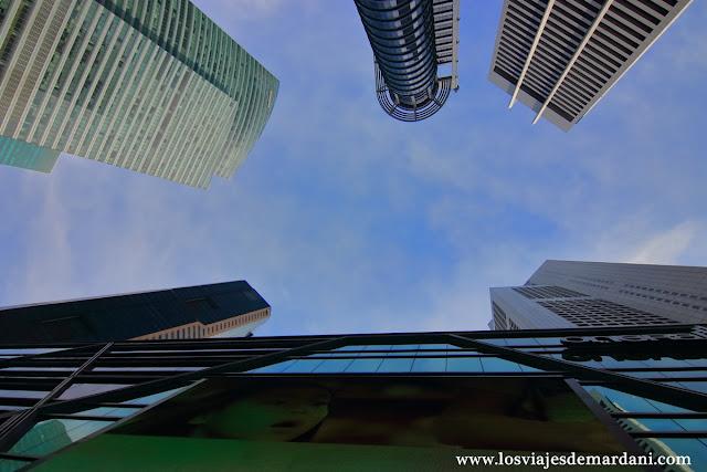 Rascacielos del Skyline de Singapur