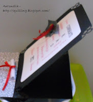 quilling quilled easel card graduation