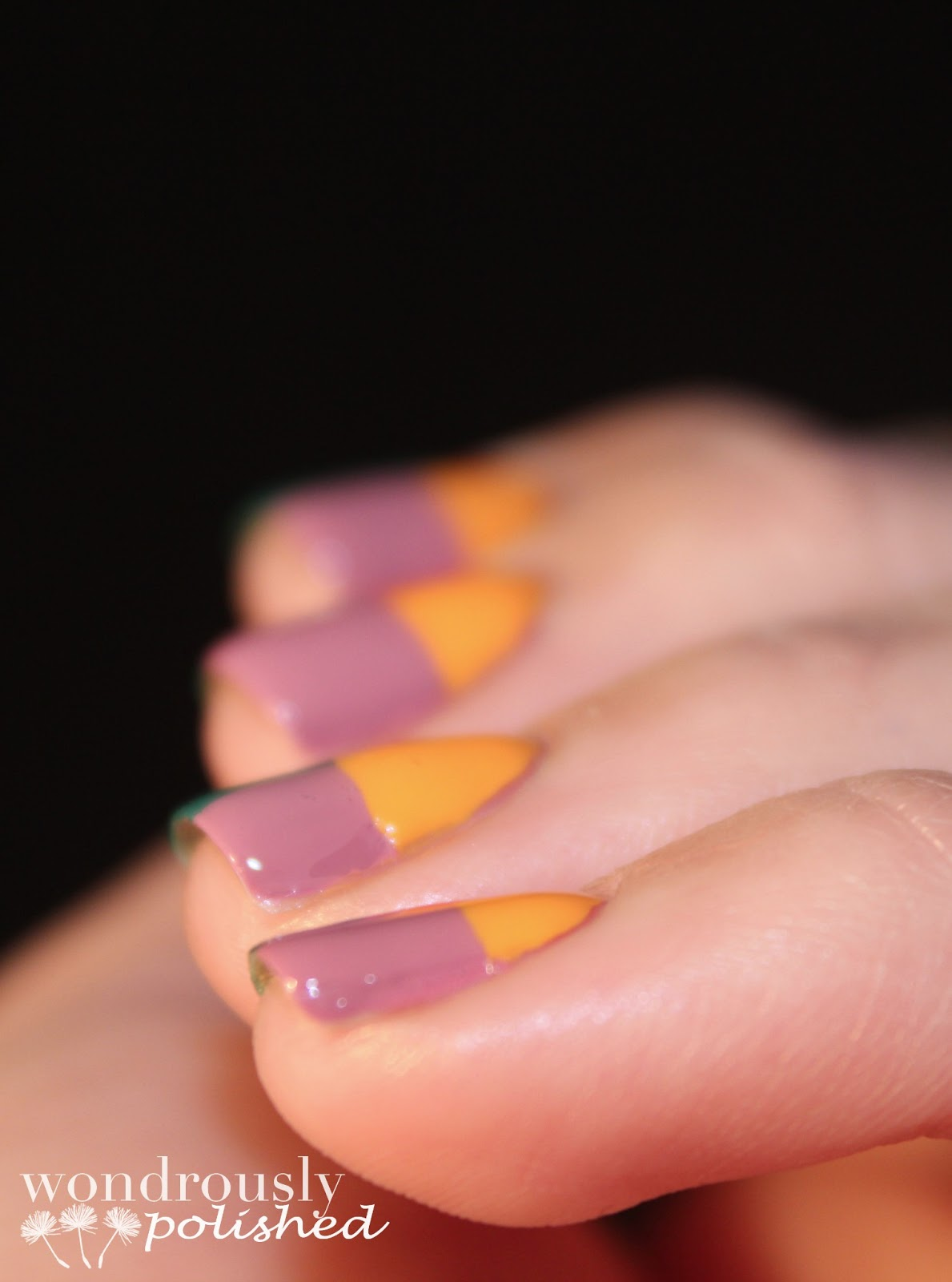 Wondrously Polished February Nail Art Challenge: Wondrously Polished: Julep Color Blocking