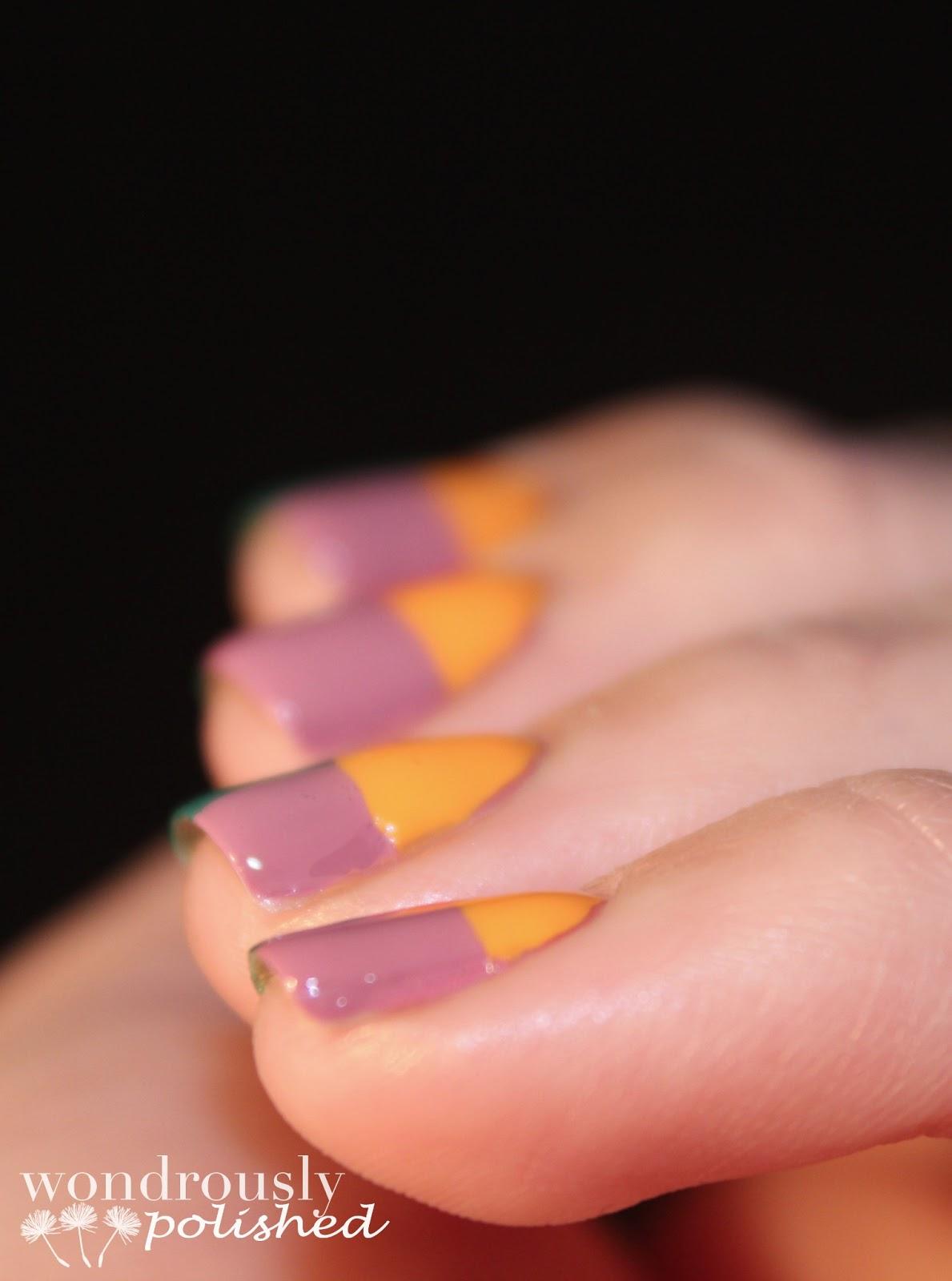 Wondrously Polished April Nail Art Challenge: Wondrously Polished: Julep Color Blocking