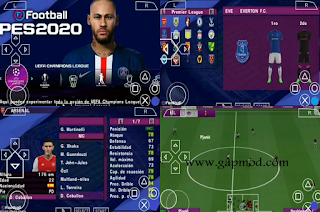 PES 2020 PPSSPP Lite by M Pro Gaming Update 2020/2021